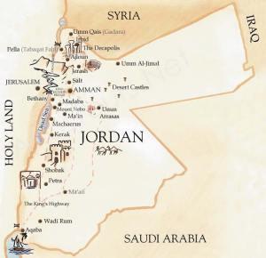giordania_mappa