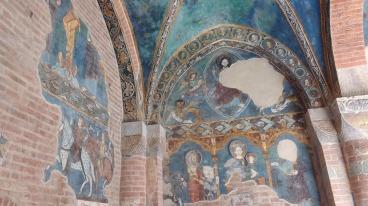 Santa Maria di Vezzolano, affreschi del chiostro